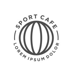 Sport ball logo design vector