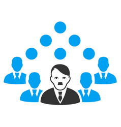 Staff manager flat icon vector