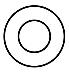 Steel washer icon outline style vector