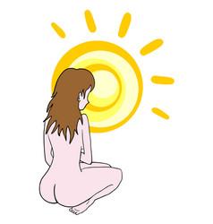sun body protection vector image
