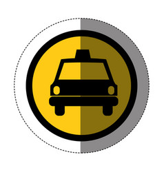 Symbol taxi front car icon vector