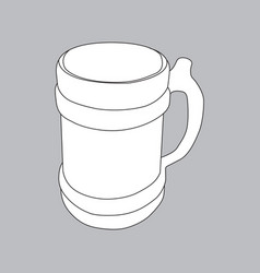 the image of an old beer mug vector image