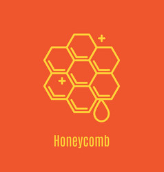 thin line icon honeycomb vector image