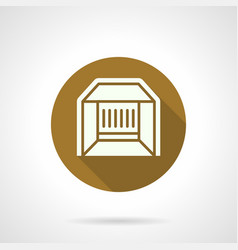 Trade pavilion flat round icon vector