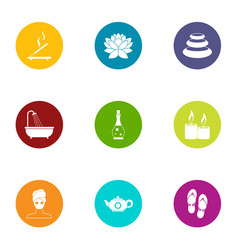 transformation icons set flat style vector image