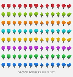 Webdesign pointers vector image