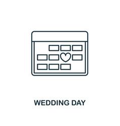 wedding day outline icon premium style design vector image