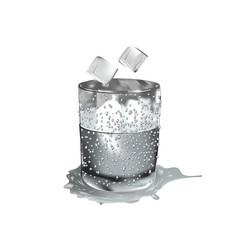 Wet glass on white vector