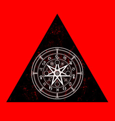 wiccan symbol protection triangle mandala icon vector image