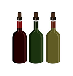 Wine label design isolated vector
