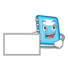 with board education character cartoon style vector image