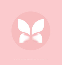 x monogram butterfly lingerie cosmetics confection vector image