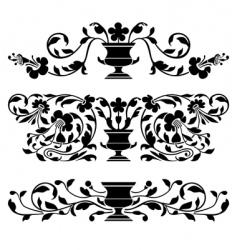antique ornaments vector image vector image