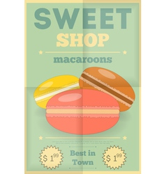 candy shop macaroon vector image vector image