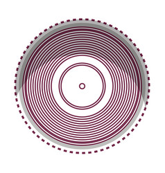 long play disk icon vector image