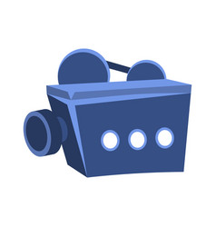movies projector for projecting on screen cinema vector image