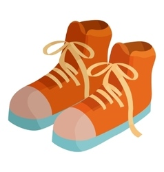 Pair of boots icon cartoon style vector image