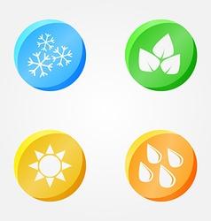 Symbols of 4 seasons - winter spring summer autumn vector