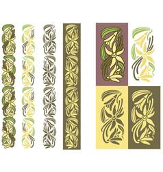vanilla plant colored ornament vector image vector image