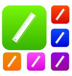 yardstick set color collection vector image