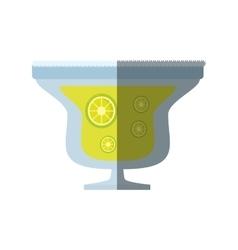 alcoholic cocktail popular bar lemon slice shadow vector image