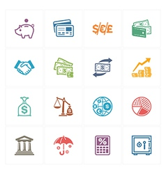 Finance Icons - Colored Series vector image vector image