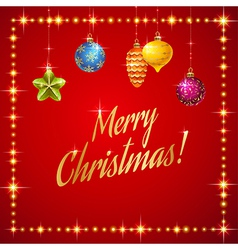 Flash merry christmas vector image