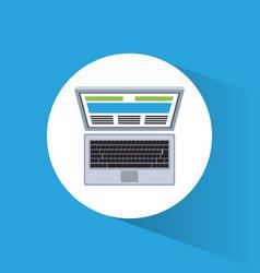 laptop marketing information web site vector image