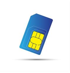 Mobile phone sim card standard micro and nano sim vector image vector image