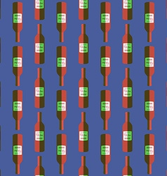 pop art red wine bottle seamless pattern vector image