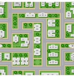 Top view city seamless vector image vector image