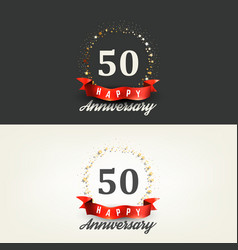 50 years happy anniversary banners vector image