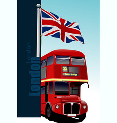 cover for brochure with london images vector image vector image