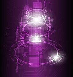 digital future technology background vector image vector image