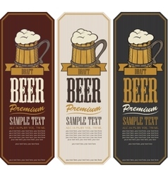 labels for the beer vector image vector image
