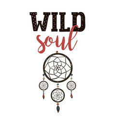 wild soul exploring lettering vector image