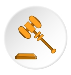 Gavel icon flat style vector image vector image