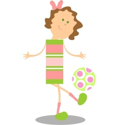 Girl walking color vector image
