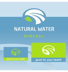 Logo label natural product water milk vector