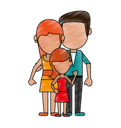 Lovely family cartoon vector