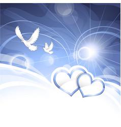 peace hearts vector image vector image