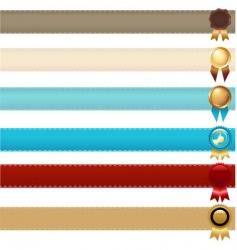ribbons and awards vector image
