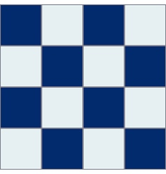 Royal Blue White Chessboard Background vector image vector image