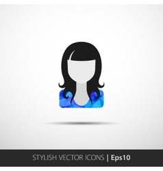 Social networks private users avatar pictogram vector image vector image