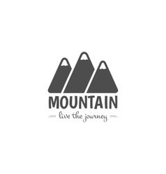 Vintage mountain camping badge outdoor logo vector image vector image