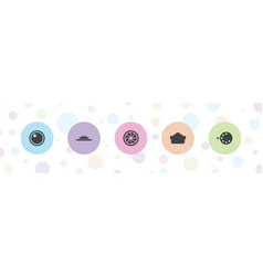 5 aperture icons vector