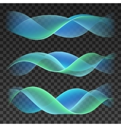 Abstract smooth waves on checkered background vector image