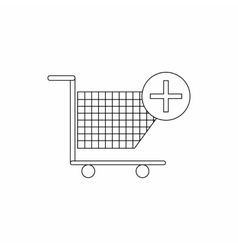 Add to shopping cart icon thin line style vector