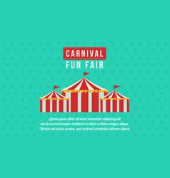 Banner carnival funfair design style vector
