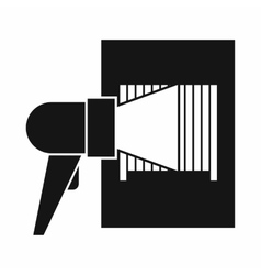 Bar code on cargo icon simple style vector